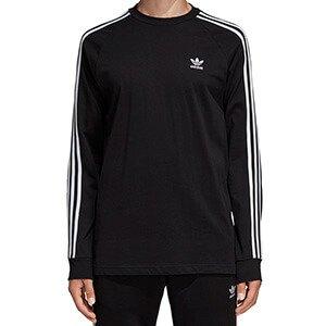 adidas Originals Black Camo 3 Stripe Long Sleeve T Shirt